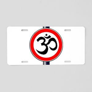 Om Traffic Sign Aluminum License Plate
