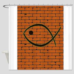 Christian Fish Graffiti Shower Curtain