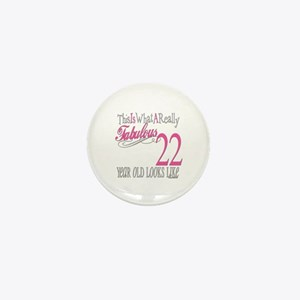 22nd Birthday Gifts Mini Button