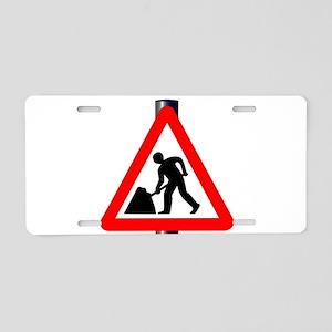 Men at Work Traffic Sign Aluminum License Plate