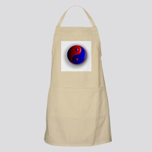 Yin and Yang, Red and Blue. Apron