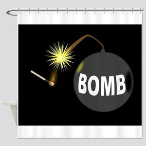 Bomb and Match Shower Curtain