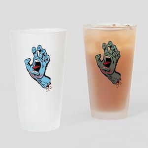 Santa Cruz hand art Drinking Glass