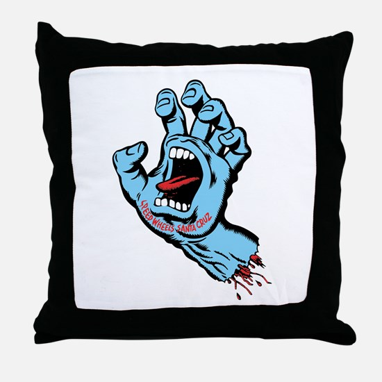 Santa Cruz hand art Throw Pillow