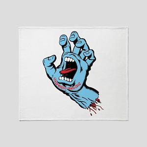 Santa Cruz hand art Throw Blanket