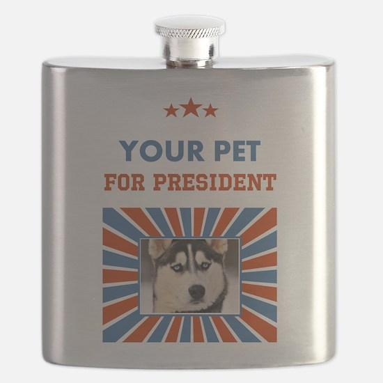 Custom Your Pet For President Flask