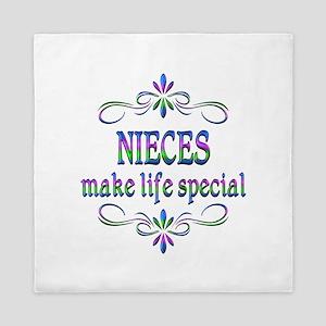 Nieces Make Life Special Queen Duvet