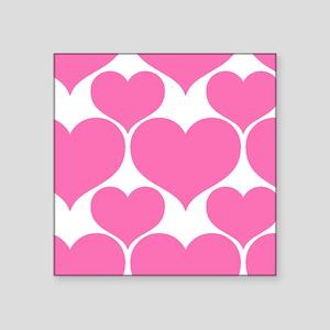 Trendy Strawberry Ice Hearts Pattern Sticker