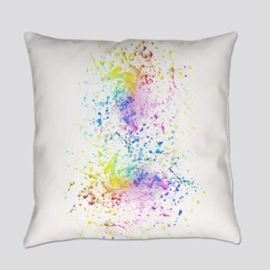 Rainbow color splatter paint Everyday Pillow