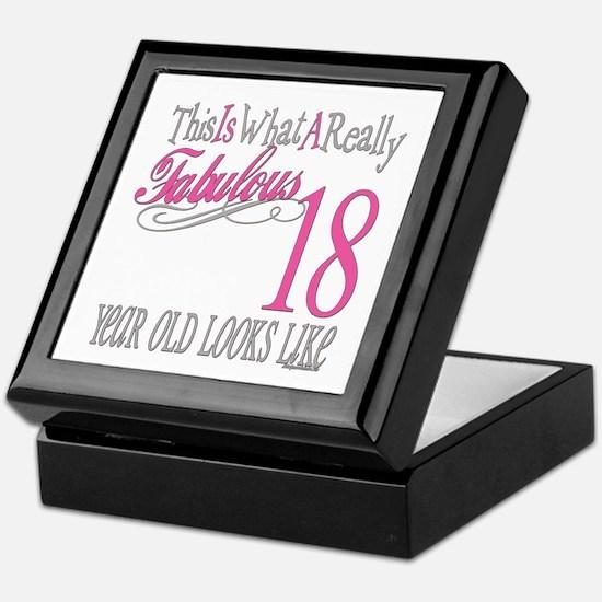 18th Birthday Gifts Keepsake Box