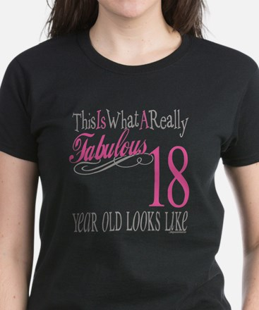 18th Birthday Gifts Women's Dark T-Shirt