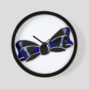 Black Silk Bow Wall Clock