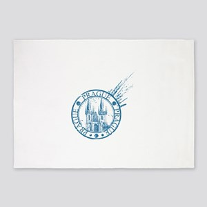 Prague travel stamp 5'x7'Area Rug