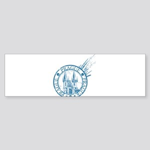 Prague travel stamp Bumper Sticker