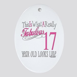 17th Birthday Gifts Oval Ornament