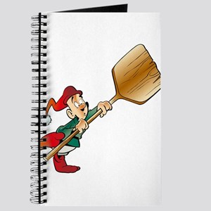 Santa holding paddle Journal