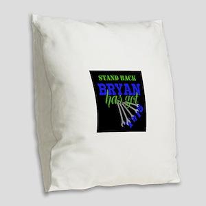 Tech: Mechanic Personalize Burlap Throw Pillow