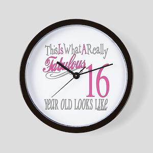 16th Birthday Gifts Wall Clock