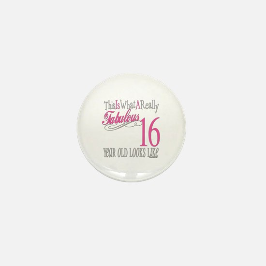 16th Birthday Gifts Mini Button