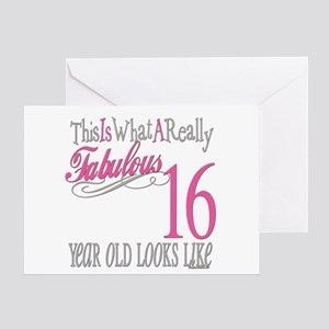 16th Birthday Gifts Greeting Card
