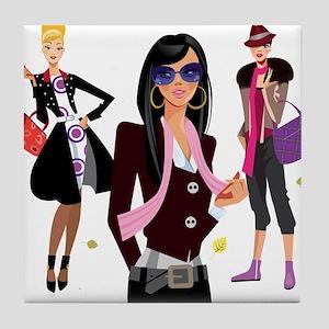 Fashion girls design Tile Coaster