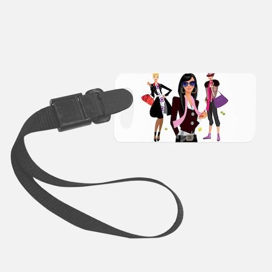 Fashion girls design Luggage Tag