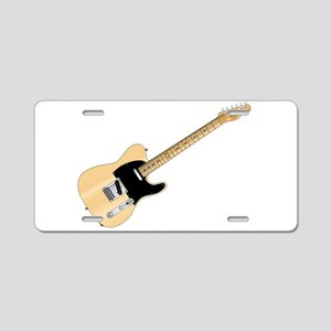 Rock Guitar Aluminum License Plate