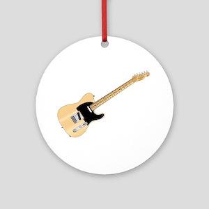 Rock Guitar Round Ornament