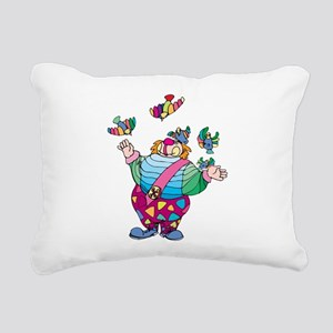 Clown playing with toy b Rectangular Canvas Pillow