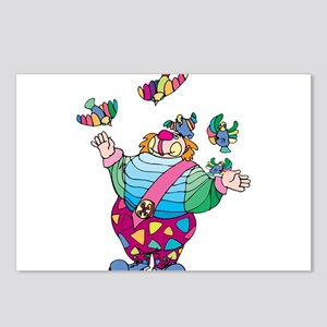 Clown playing with toy bi Postcards (Package of 8)