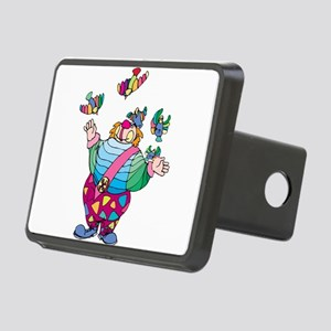 Clown playing with toy bir Rectangular Hitch Cover