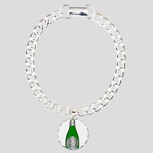 25th Celebration Wine Bo Charm Bracelet, One Charm