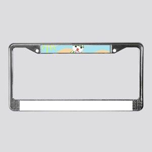 xmas in july snowman License Plate Frame