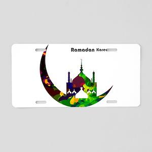 Colorful Ramadan Kareem des Aluminum License Plate