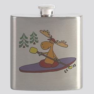 Kayaking Moose Flask