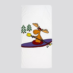 Kayaking Moose Beach Towel