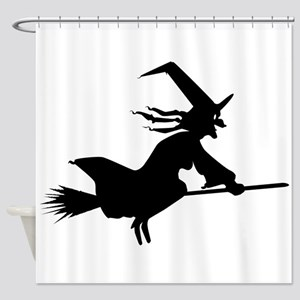 Silhouette Witch Shower Curtain
