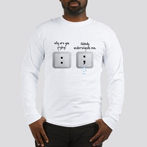 PUNCTUNATION HUMOR - COLON AND Long Sleeve T-Shirt