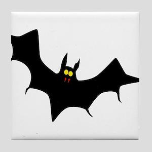 Flying Halloween Bat Tile Coaster