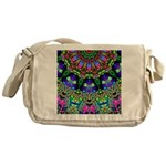 Abstract Decorative Pattern Messenger Bag
