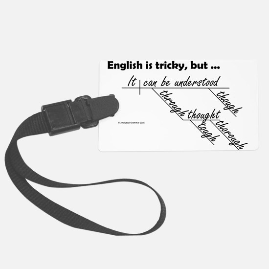 English is Tricky Luggage Tag