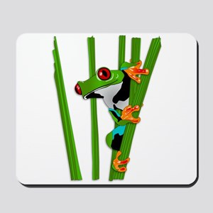 Cute frog on grass Mousepad