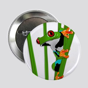 """Cute frog on grass 2.25"""" Button"""