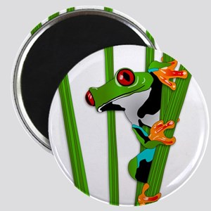 Cute frog on grass Magnets
