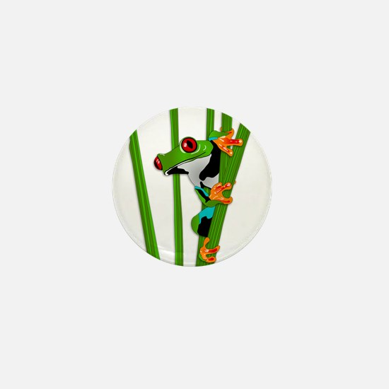 Cute frog on grass Mini Button