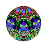 Abstract Decorative Pattern Button
