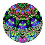Abstract Decorative Pattern Round Car Magnet