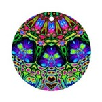 Abstract Decorative Pattern Round Ornament
