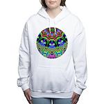 Abstract Decorative Pattern Women's Hooded Sweatsh