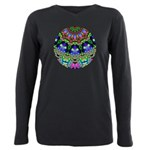 Abstract Decorative Pattern Plus Size Long Sleeve